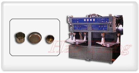 高周波不锈钢锅三层锅底银焊机