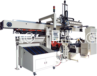 Lock seam forming machine