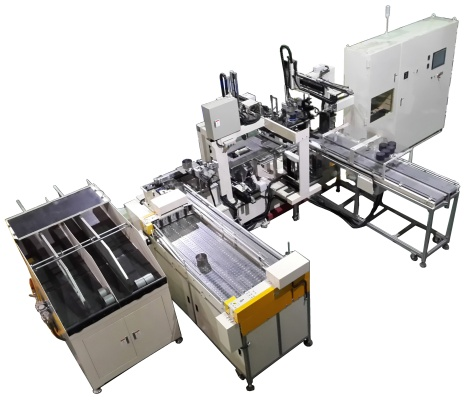 Automatic brick dia. measuring/ mat weighting/ automatic wrapping machine