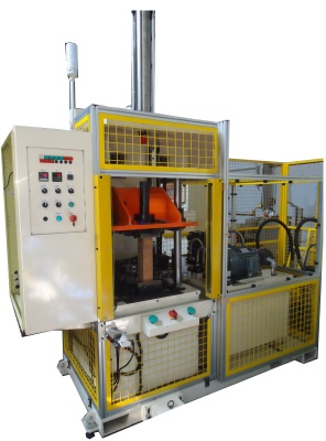 End diameter reducing machine