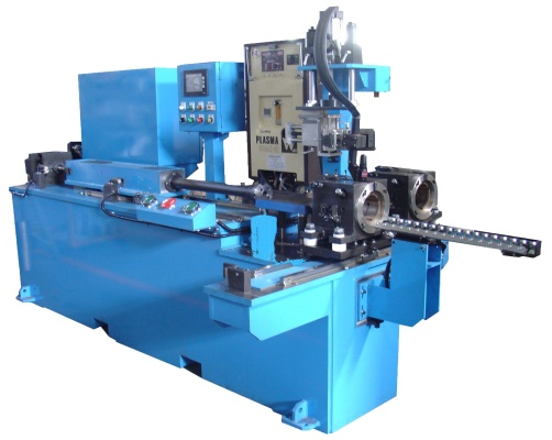 Tunnel type plasma shell body welding machine