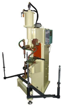 Air spot welding machine-for fuel tank shell body