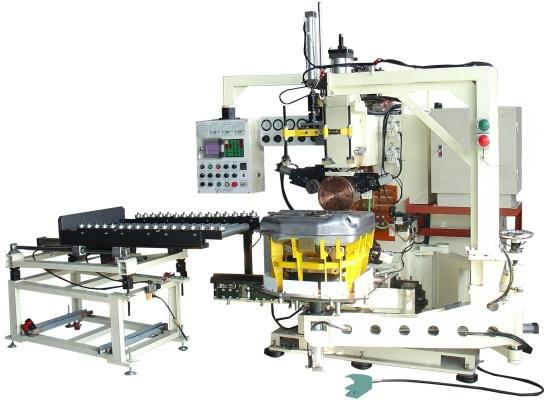 Máy hàn lăn tự động kiểu mô phỏng binh xăng - trực lưu biến tần, tự động xuất liệu.