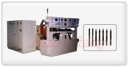 Máy gia nhiệt NC toàn tự động Đông cứng/hồi lửa/ chỉnh thắng. Dùng gia nhiệt trục tâm mô tơ kiểu ngang.