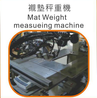 Mat Weight measueing machine,Taiwan